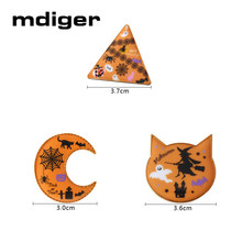 ФОТО mdiger halloween brooches collar pins ghost pumpkin spider web witch short brooch for women men personality patry jewelry