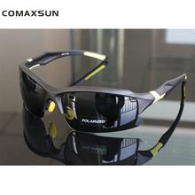 COMAXSUN profesjonalne polaryzacyjne okulary rowerowe rower gogle rowerowe jazda wędkowanie Outdoor Sport okulary przeciwsłoneczne UV 400 Tr90 tanie tanio 4 0 CM Poliwęglan 7 1 CM XQ129 Wielu z comaxsun Spolaryzowane Mężczyzn Octan