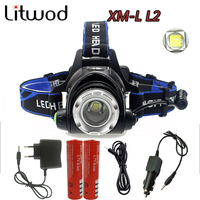 5000 Lumens Led Leadlamp Cree XM L T6 L2 Led Headlights Lantern 4 Mode Waterproof Torch