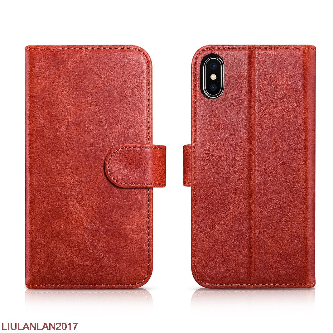 Luxury Business Retro Cover For Apple Iphone X Elegant Red