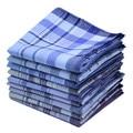 5 unids/lote 38*38 cm Plaid Square algodón raya Pañuelos hombres clásico patrón vintage bolsillo Hanky Pañuelos color al azar