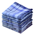 5Pcs/lot 38*38cm Cotton Plaid Square Stripe Handkerchiefs Men Classic Pattern Vintage Pocket Hanky Handkerchiefs Random Color