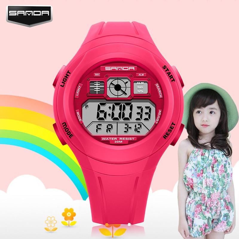 SANDA Top Brand Digital Kids Watch Sport LED Elektronisk Klocka Kid - Barnklockor - Foto 4