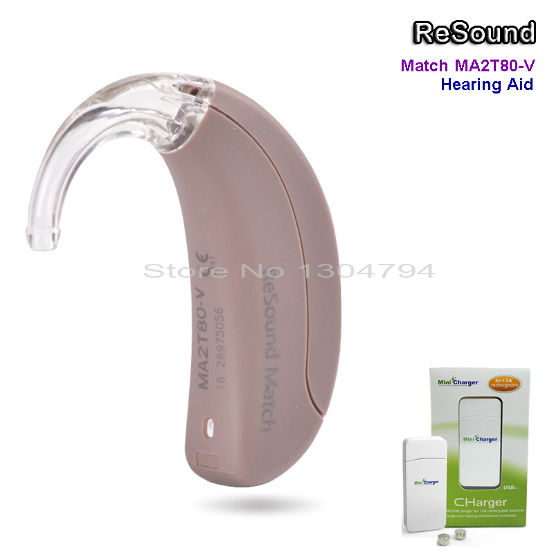 2018 NEW!!GN ReSound BTE Digital Hearing Aid Ear Aids MATCH MA2T80-V Severe to Profound Loss 3-CH High Super Power Mini Sound new arrival original lotus 12sp hearing aids wireless bte hearing aid for siemens free shipping