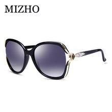 a4b91415f4f17 MIZHO Resistência À Fadiga de Alta Qualidade Grandes Senhoras Óculos 2018 Óculos  De Sol Mulheres Polarizada