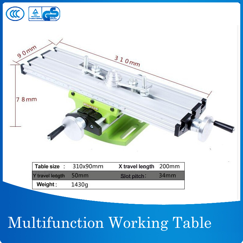 Worktable Working Cross Table Milling Machine Compound Drilling Slide Table For Bench Drill Multifunction Adjustable X-Y недорого