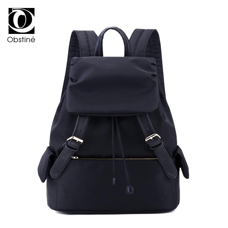 Women Drawstring Backpack School Bag for Teenager Backpacks Woman 2018 Oxford  Waterproof Bagpack for School Black 271c1b3a652e5