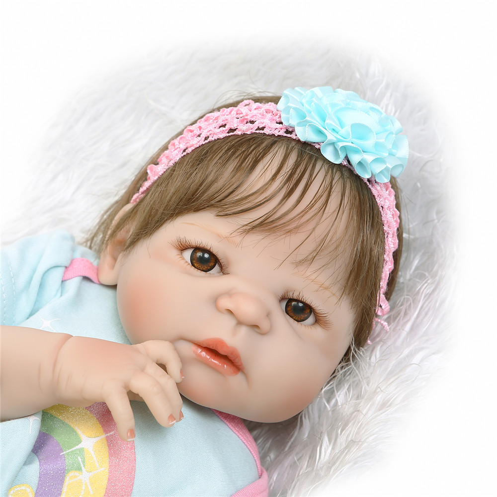 NPK real baby victoria girl 23 full body silicone reborn baby dolls rooted new hair bebes reborn kids toy gift bonecasNPK real baby victoria girl 23 full body silicone reborn baby dolls rooted new hair bebes reborn kids toy gift bonecas