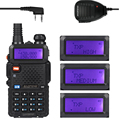 Baofeng UV-5R TP 136-174/400-520MHz Dual Band FM High Power 1/4/8W Two Way Ham Radio Walkie Talkie + uv5rtp Remote Speaker
