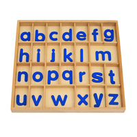 Baby Toy Montessori Material Movable Alphabets Box Letters Wood for Early Childhood Education Preschool Kids Brinquedos Juguetes