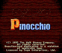 Pinocchio 16 bit MD Game Card For Sega Mega Drive For Genesis