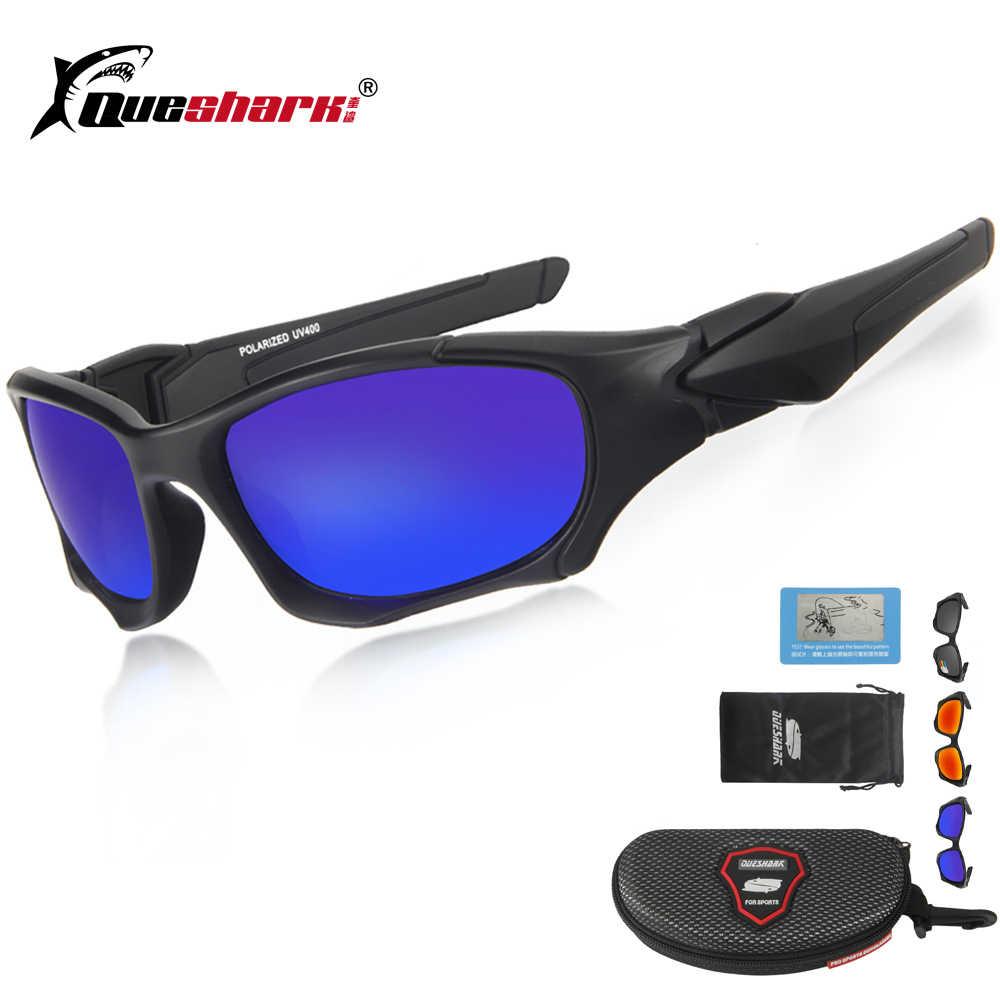 c3e2ac238113 Queshark UV400 Cycling Sunglasses Polarized Bicycle Goggles Sports Glasses  Bike Fishing Hiking Riding Eyewear Oculos Ciclismo