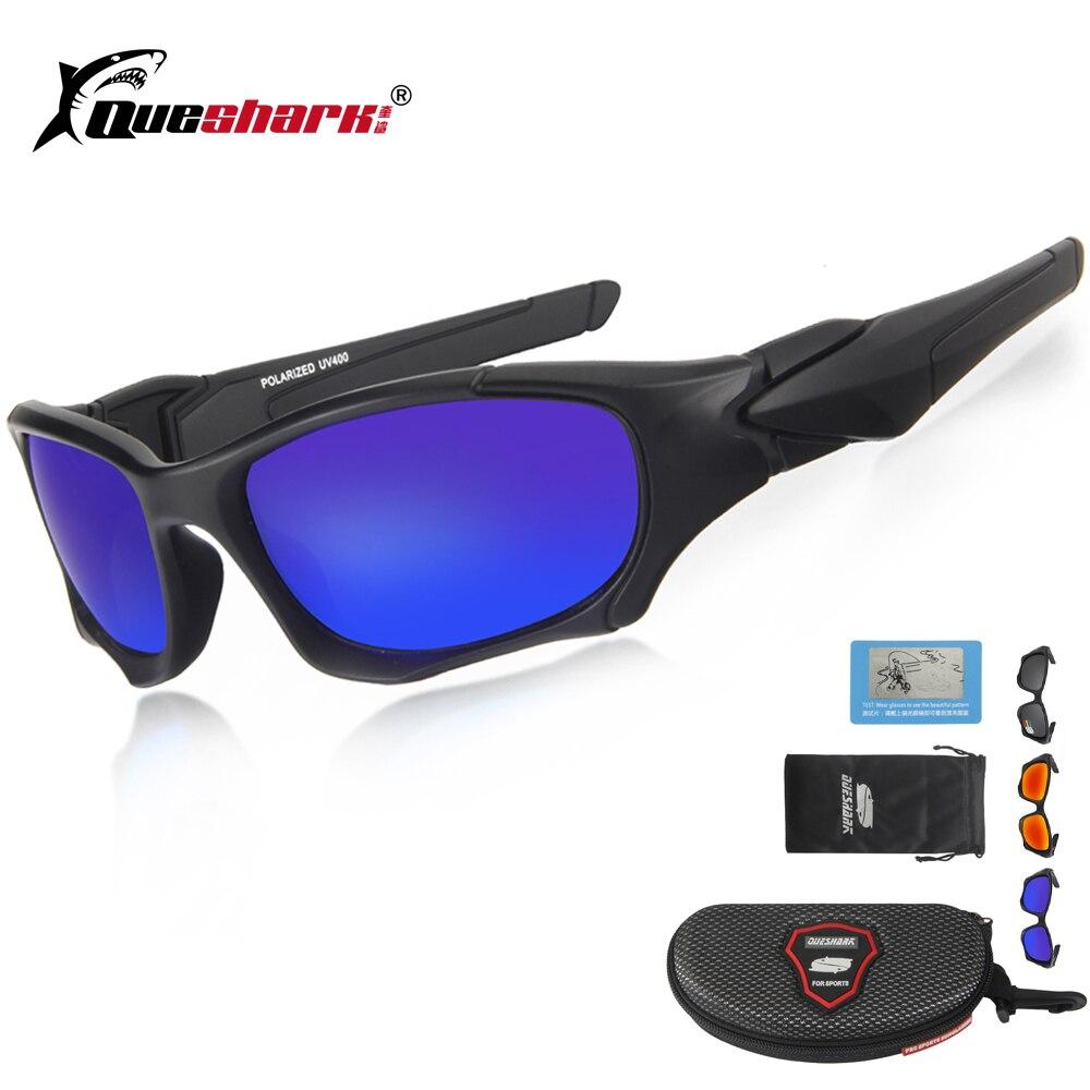 00c76b69c9c Queshark UV400 Cycling Sunglasses Polarized Bicycle Goggles Sports Glasses  Bike Fishing Hiking Riding Eyewear Oculos Ciclismo