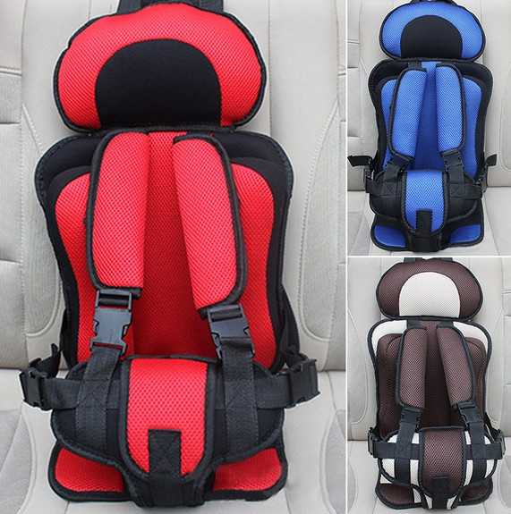 3~12 Y Portable Children Car Safety Seat Baby Vehicle Travel Thickening Pad Five-point Harness Child Car Safety Chair Seat