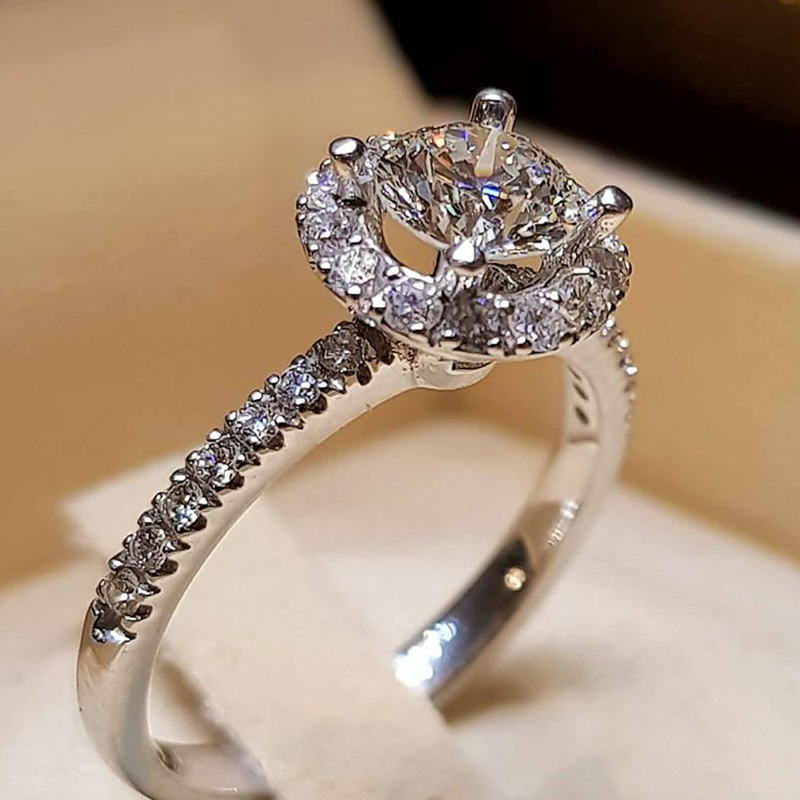 Hot Sale Wedding Rings For Women Princess Luxury Propose
