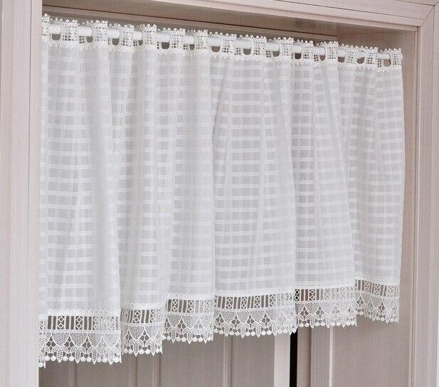 Recién llegado de café cortinas de la cocina blanca corta cortinas ...