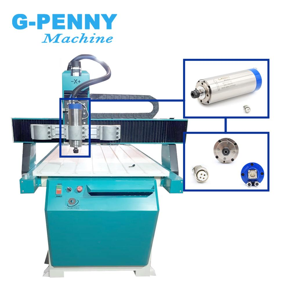 Image 5 - 1.5KW water cooled spindle motor ER16 water cooling 4 bearings 80x220mm Precision 0.01mm&1.5kw VFD &80mm bracket-in Machine Tool Spindle from Tools