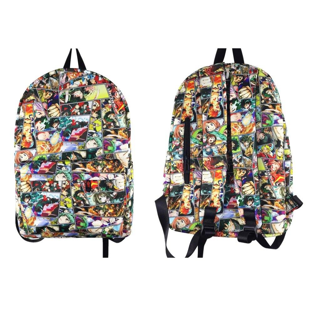 My Hero Academia Backpack Boku No Hero Academia Cartoon School Bag Bookbags Teenagers Laptop Shoulders Backpack Travel Rucksack