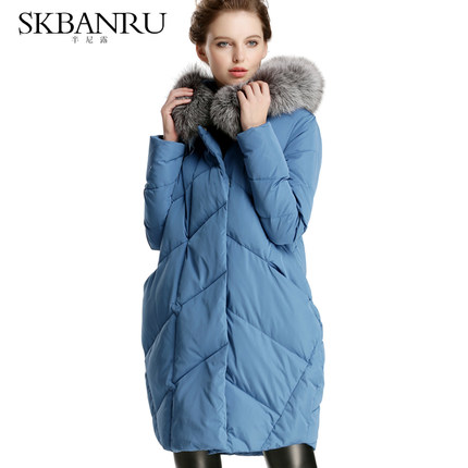 2015 New Hot Winter Thicken Warm Woman Down jacket Coat Parkas Outerwear Hooded Fox Fur collar Long Luxury High Plus Size Slim 2015 new hot winter thicken warm woman down jacket coat parkas outerwear hooded fox fur collar luxury long plus size 2xxl goose