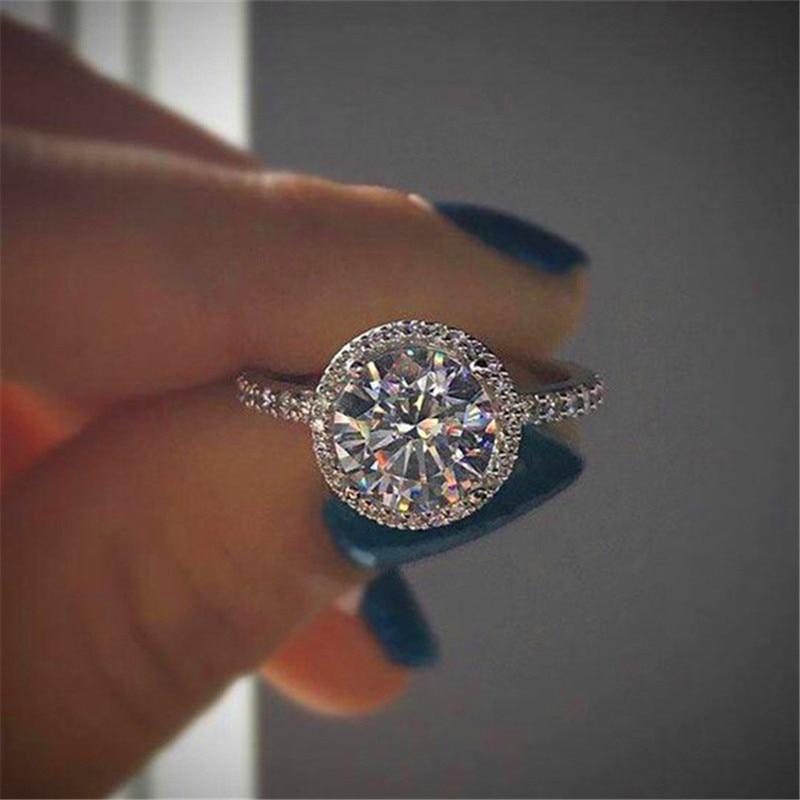 Schmuck & Zubehör 2019 Luxus Weibliche Kristall Zirkon Stein Ring Vintage 925 Silber Hochzeit Ringe Band Versprechen Engagement Ring Neue Jahr Geschenke