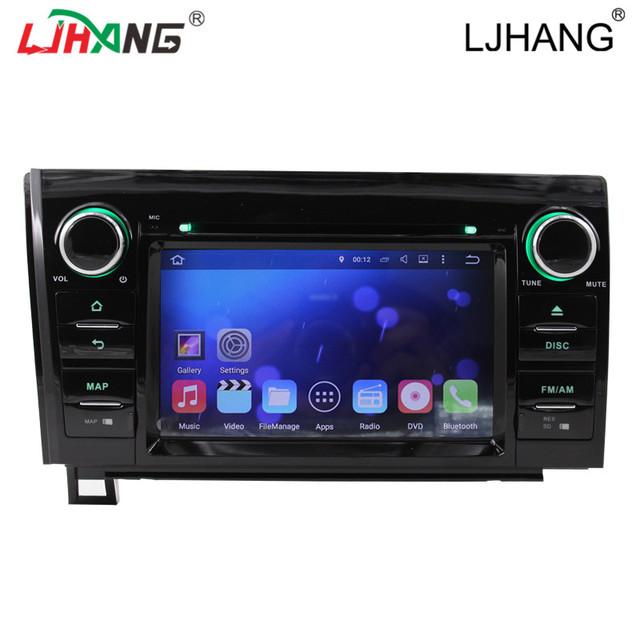 Quad core android 5.1 rádio do carro de áudio estéreo jogador para toyota Sequoia com navegação GPS DVD vídeo steer controle da roda de RDS mapa