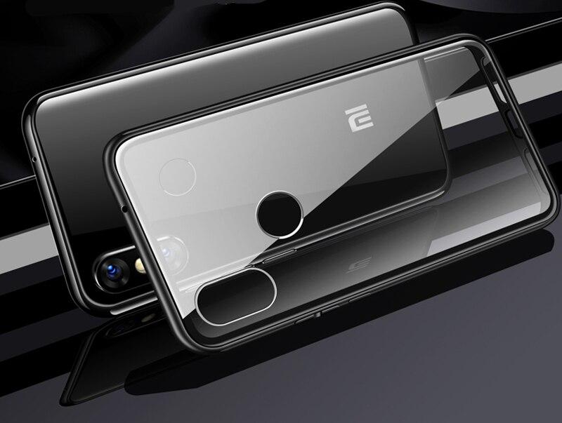 Metal Magnetic Case For Xiaomi Redmi 7A K20 Note 7 5 6 8 pro Glass Case For Mi A3 CC9 CC9E 9 SE Lite Pocophone F1 Phone Cover