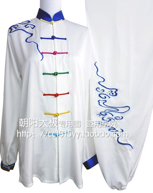 Customize Tai chi font b clothing b font Martial arts garment taiji uniform clouds embroidery outfit