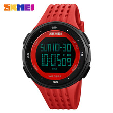 лучшая цена SKMEI Men Outdoor Sports Watches Waterproof Digital LED Military Watch Men Brand Fashion Casual Electronics Luxury Wrist Watches