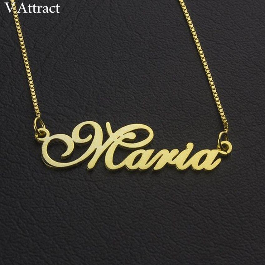 Gold Box Kette Typenschild Choker Frauen Männer Personalisierte Name Halskette Angepasst Schmuck Edelstahl Anhänger Halsketten Geschenk