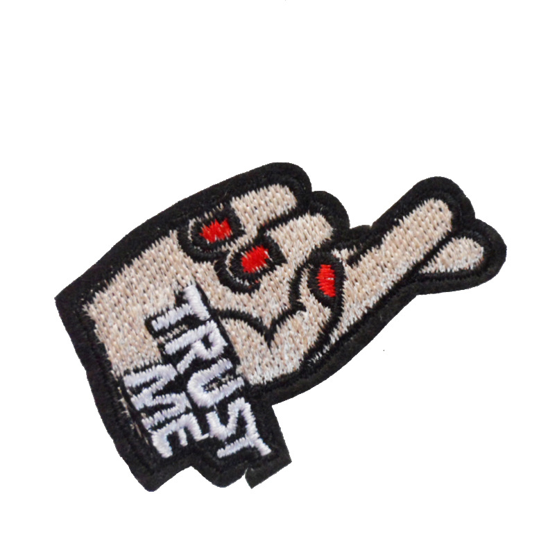DIY Clothing Auxiliary Material Back Glue, Iron And Iron, Denim Patch, Computer Embroidery Letter Gesture Cartoon Cloth Patch