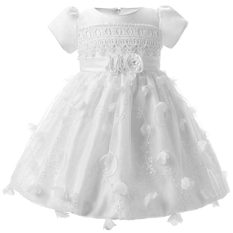 Baptism Gift Girl Christmas Ornament For Baby Girl Baptism: Child Wedding Baptism Clothes Infant Baby Girl Dresses 1