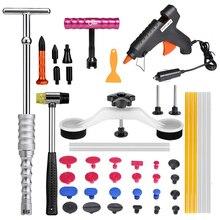 Kit de Ferramentas de PDR Paintless Dent Repair Kits de Reparo Do Corpo Do Carro Extrator Martelo Deslizante Ponte 12 V Cola Arma Ventosa para Mossas Carro