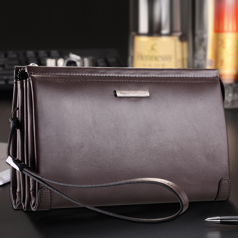 HansBand Luxury Brand Genuine Leather Men Clutch Wallets Big Capacity Phone Bag Cowhide Wallet Fashion Men Wallet hansband luxury brand men clutch wallet genuine leather hand bag classic multifunction mens high capacity clutch bags purses