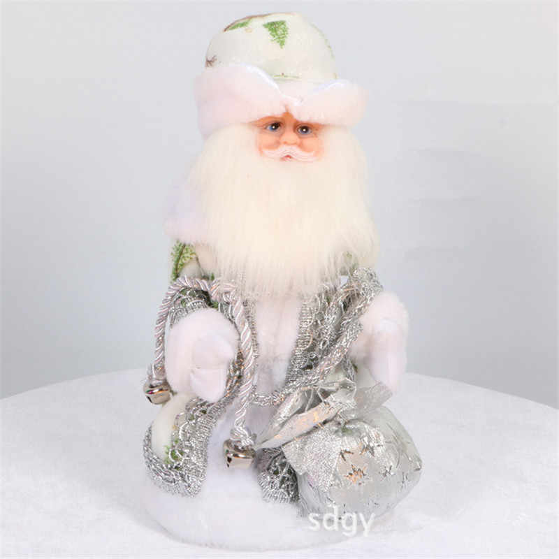 Russo musical papai noel decorações de boneca natal criativo 12 Polegada elétrica papai noel falando brinquedos boneca para crianças