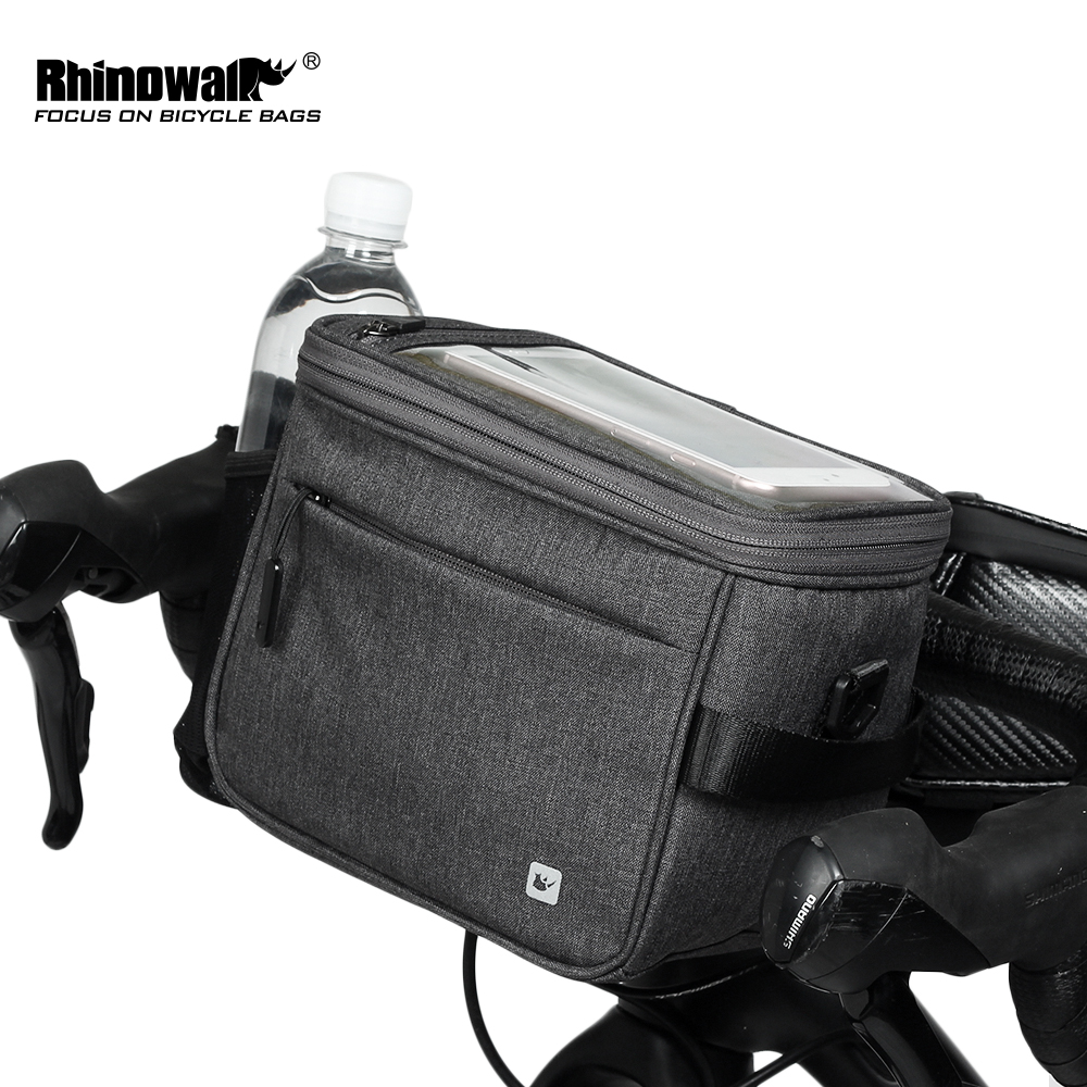 Rhinowalk Waterproof Bicycle Bag Touch Screen Handlebar Front Tube Bag Multifunction Shoulder Bag for Phone Camera GPS Container-in Bicycle Bags & Panniers from Sports & Entertainment