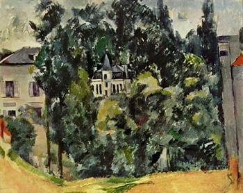 Pinturas al óleo, pintura al óleo hecha a mano reproducción en lienzo de lino, castillo de Infantes de Marina-1890 de paul cezana, pintura al óleo de paisaje