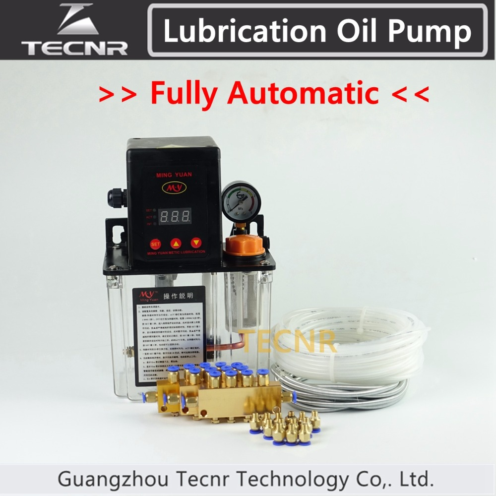 TECNR Full set CNC Automatic Lubrication oil pump 1.5L digital electronic timer gear pumps for cnc machine 1 5l details about auto lubrication pump cnc digital electronic timer lcd automatic oiler 220v