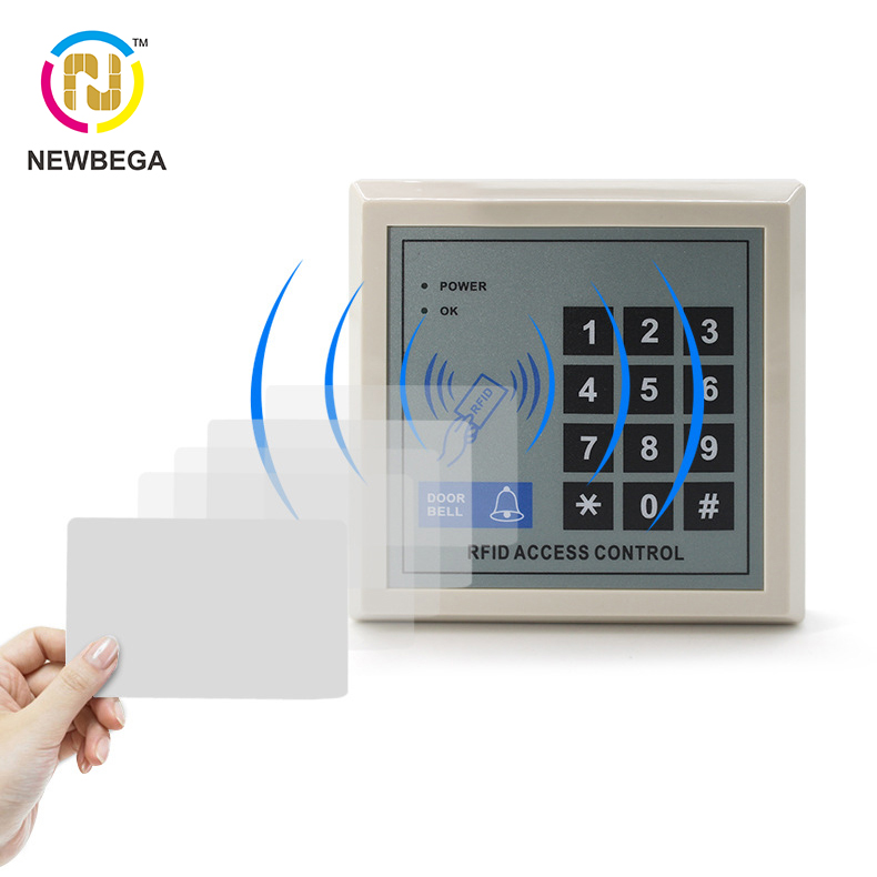 Access control machine ID and password office system one machine RFID 125KHz Keyfobs card open the door Electronic door lock|  - title=