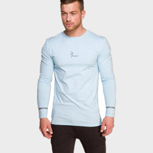 Mens long sleeved t shirt cotton Slim fit gyms Fitness Bodybuilding workout Crossfit clothing male Casual fashion Brand tee tops