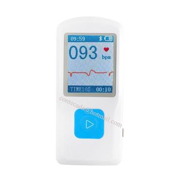 CONTEC PM10 opieka zdrowotna urządzenie medyczne szybki wykrywacz EKG z aplikacją mobilną Bluetooth łatwy test EKG EKG Monitor tanie i dobre opinie Z Chin Kontynentalnych Mierzenie ciśnienia krwi Dla palców