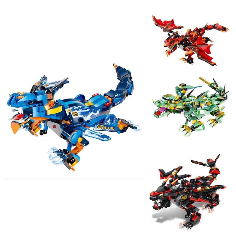 MoFun bataille Dragon bricolage 2.4G 4CH RC Robot bloc bâtiment contrôle infrarouge assemblé Robot enfants jouets noir vert bleu rouge