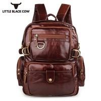 Real Leather Backpack Man Laptop Business Male Functional Rucksack Waterproof Travel Backpacks Men Climbing Bag Knapsack Women