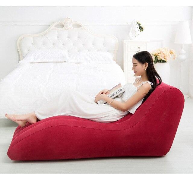 155 cm x 89 cm x 65 cm inflável ar cadeira do saco de feijão, reunindo PVC boa qualidade S forma cadeira do amor, sexy beanbag sofá reclinável
