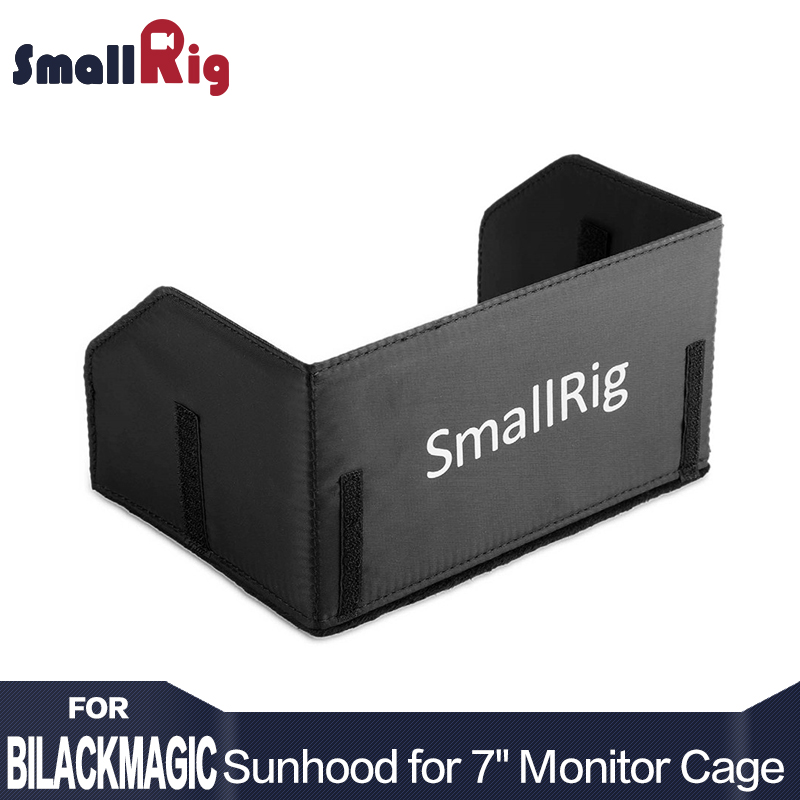 "SmallRig Monitor Cage 7/"" with Sunhood /& Support for Blackmagic Video Assist 1988"