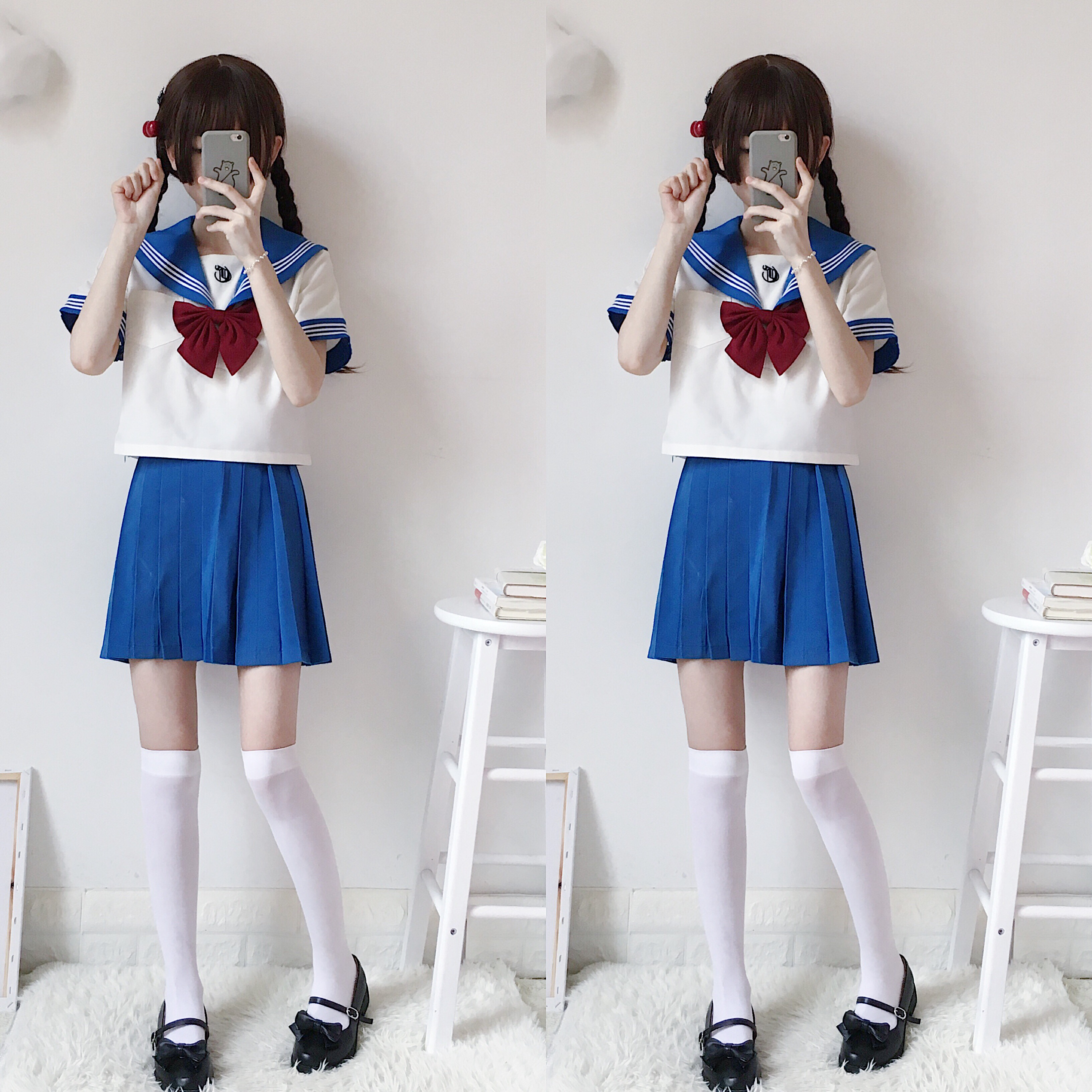 2019 New Japanese School Uniforms Sailor Tops+tie+skirt Navy Style Students Clothes For Girl Plus Size Lala Cheerleader Clothing