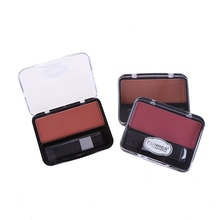 Single Color Mineral Blush Makeup Palette Face Cheek  Natural Pressed Powder Blusher Long Lasting Cosmetics new ruby rose face makeup cheek blusher pigmented natural face blusher powder cosmestics professional palette blush contour shadow