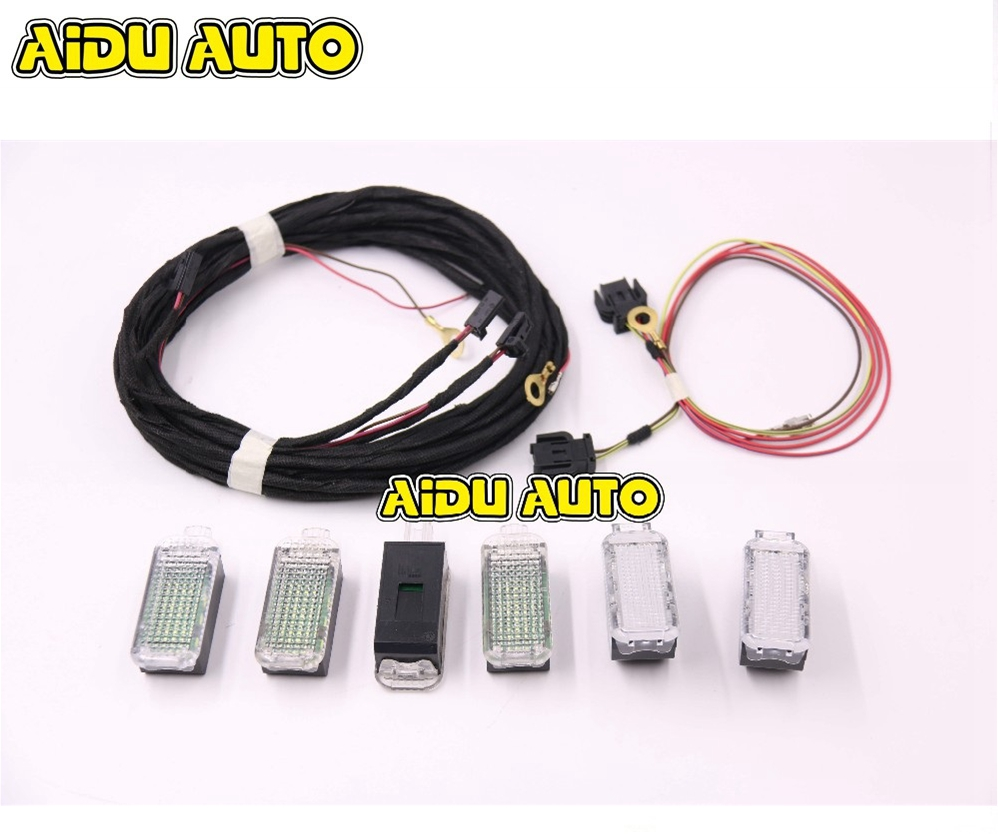 LED FootWell Glove compartment Box Light For Audi Q5 A4 B8 S4 B8 Q5 A5
