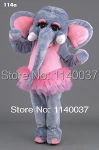 mascotte roze ballerina olifant mascotte kostuum aangepaste kostuum - Carnavalskostuums
