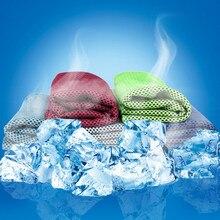 Многоцветное полотенце для льда 90*30 см, долговечное полотенце для мгновенного охлаждения, многоразовое охлаждающее полотенце, холодное полотенце