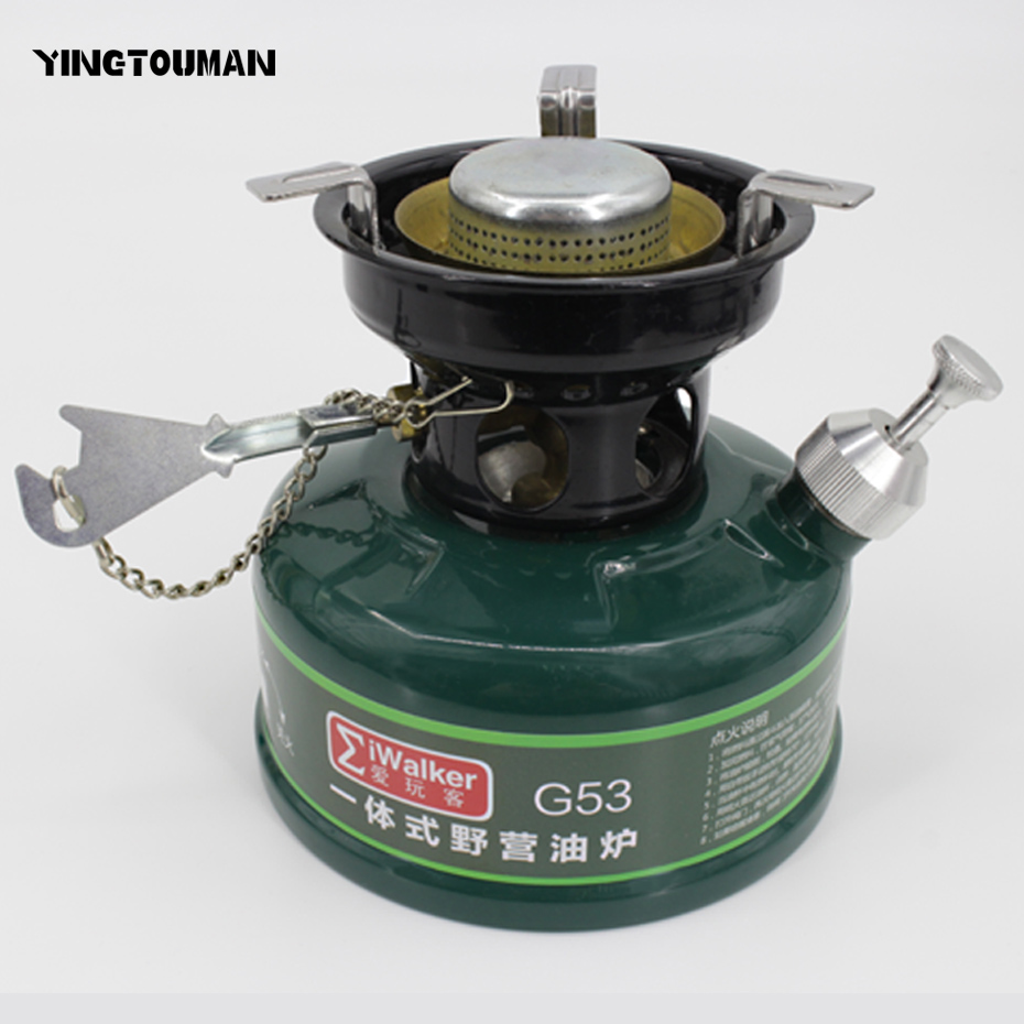 YINGTOUMAN Outdoor Stove Camping Gasoline Stove No Noise Oil Stove Burners Outdoor Cookware Picnic Furnace Picnic Stoves multifunctional portable outdoor camping petrol stove burners 1000ml gasoline picnic gas stove cooking stove wholesale